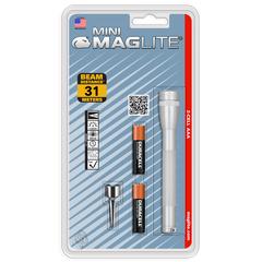 Фонарь MAGLITE, Mini, 2AAA, серебристый, 12,7 см, в блистере M3A106E