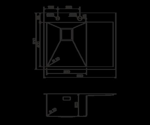 Кухонная мойка из нержавеющей стали OMOIKIRI Akisame 65-LG-L (4993083)