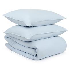 Комплект постельного белья двуспальный небесно-голубого цвета из органического стираного хлопка из коллекции Essential Tkano TK20-BLI0005