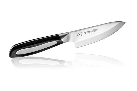 Нож кухонный стальной Деба (105мм) Tojiro Flash Damascus FF-DE105