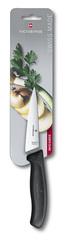 Нож Victorinox разделочный 19 см, черный, в картонном блистере 6.8003.19B