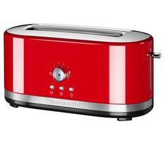 Тостер на 2 хлебца, удл.слоты, (7 степеней) KitchenAid (Красный) 5KMT4116EER