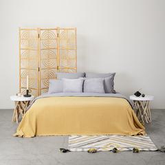 Комплект постельного белья двуспальный серого цвета из органического стираного хлопка из коллекции Essential Tkano TK20-BLI0002