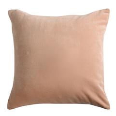Подушка декоративная из хлопкового бархата цвета пыльной розы из коллекции Essential, 45х45 см Tkano TK19-CU0005
