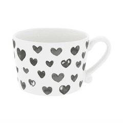 Кружка White Нearts Watercolor Black Bastion Collections RJ/CUP 006 BL