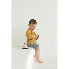 Рубашка из хлопкового муслина горчичного цвета из коллекции Essential 24-36M Tkano TK20-KIDS-SHI0003