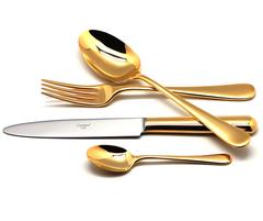 Набор столовых приборов (72 предмета / 12 персон) Cutipol ATLANTICO GOLD 9201-72