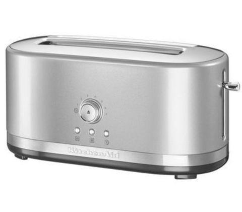 Тостер на 2 хлебца, удл.слоты, (7 степеней) KitchenAid (Серебристый) 5KMT4116ECU