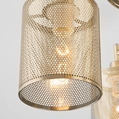 Люстра в стиле лофт с металлическими абажурами Eurosvet Tela 70109/5 античная бронза