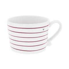 Кружка White Stripes Red Нeart Grey Bastion Collections RJ/CUP 010 RED