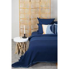 Комплект постельного белья двуспальный темно-синего цвета из органического стираного хлопка из коллекции Essential Tkano TK20-BLI0001