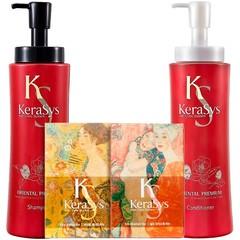 Подарочный набор Kerasys Ориентал №1 (шамп.470гр + конд.470гр + мыло 2шт + подарочная коробка + пакет) 244487