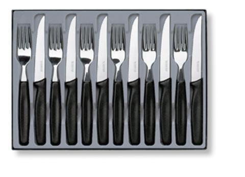 Набор Victorinox столовый, 12 предметов, черный MV-5.1233.12