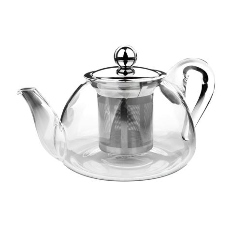 Чайник для кипячения и заваривания, стеклянный с фильтром 0,8 л IBILI Kristall арт. 621708