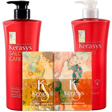 Подарочный набор Kerasys Салон Кэр Объем №6 (шамп.470гр + конд.470гр + мыло 2шт + подарочная коробка + пакет) 244517