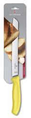 Нож Victorinox для хлеба 21 см волнистое, розовый, в блистере 6.8636.21L5B