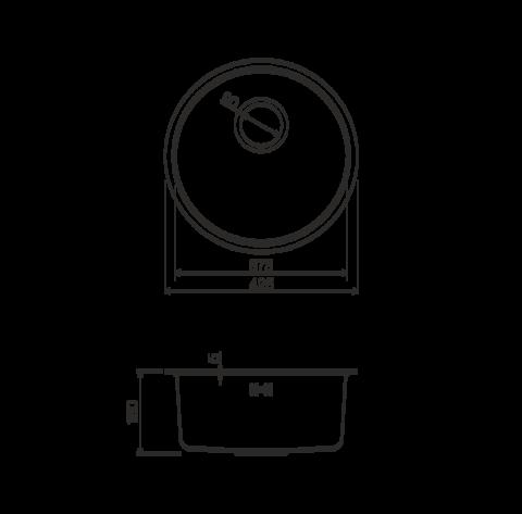 Кухонная мойка из нержавеющей стали OMOIKIRI Toya 42-IN (4993186)