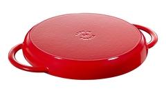 Сковорода-гриль Staub круглая, 26 см, с двумя ручками, вишневая 1203006
