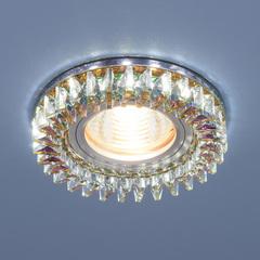 Встраиваемый точечный светильник с LED подсветкой 2216 MR16 MLT/CH мульти/хром Elektrostandard