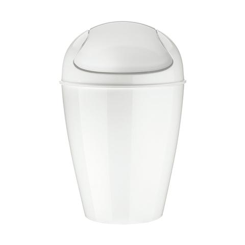 Корзина для мусора с крышкой DEL S, 5 л, белая Koziol 5777525
