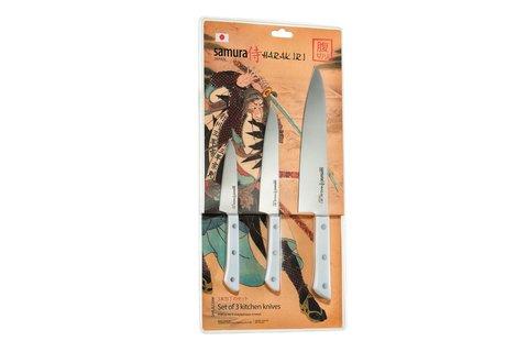 Набор из 3 ножей Samura HARAKIRI SHR-0220W