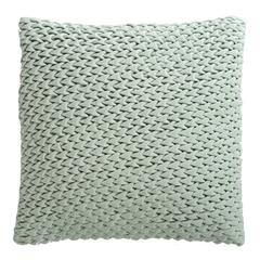 Подушка декоративная стеганая из хлопкового бархата мятного цвета из коллекции Essential, 45х45 см Tkano TK19-CU0004