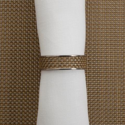 Кольцо для салфеток Gold (100324-023) CHILEWICH Stainless steel арт. 0802-MNBK-GOLD