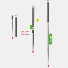 Ручка для швабры телескопическая 135 см Nordic Stream 15367