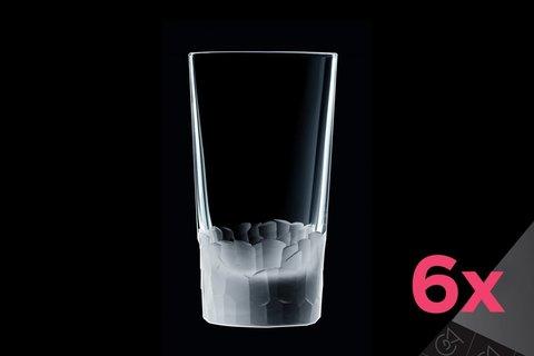 Набор из 6 высоких стаканов 330мл Cristal d'Arques Intuition L6641