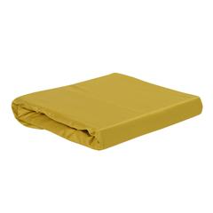 Простыня из сатина горчичного цвета из коллекции Essential, 180х270 см Tkano TK19-SH0008