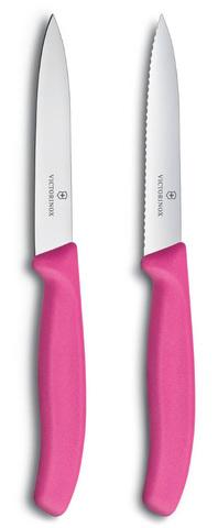 Набор Victorinox кухонный, 2 предмета прямое и волнистое, розовый MV-6.7796.L5B