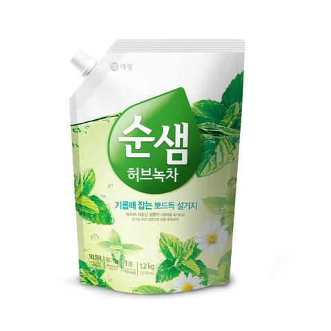 Средство для мытья посуды 1400мл (запаска) Soonsaem Зеленый чай 903001