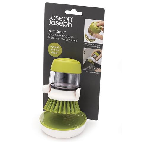Щетка с дозатором моющего средства Joseph Joseph palm scrub™ серая 85005