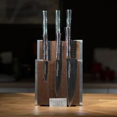 Комплект из 6 ножей Samura BAMBOO и коричневой подставки