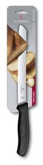 Нож Victorinox для хлеба 21 см волнистое, черный, в блистере 6.8633.21B