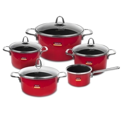 Набор посуды из 5 предметов KOCHSTAR Metallica SOLID арт. RED-3