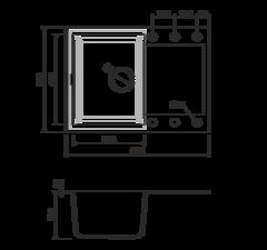 Кухонная мойка из искусственного гранита (Tetogranit) OMOIKIRI Sakaime 68-PL (4993193)