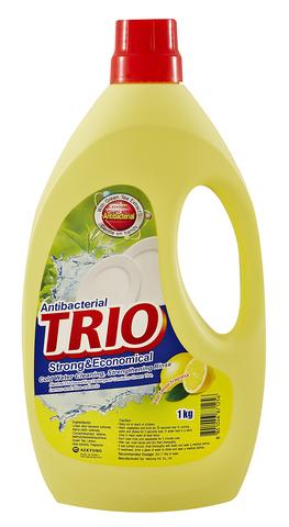 Средство для мытья посуды 1000мл TRIO Лимон 871256