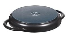 Сковорода-гриль Staub круглая, 26 см, с двумя ручками, черная 1203023