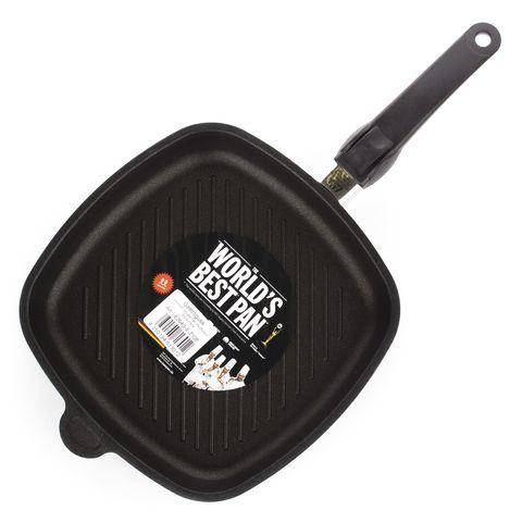 Сковорода гриль квадратная 26х26 см, съемная ручка, AMT Frying Pans Titan арт. AMT I-E264G