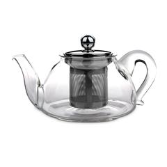Чайник для кипячения и заваривания, стеклянный с фильтром 0,45 л IBILI Kristall арт. 621704