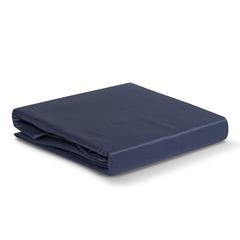Простыня из сатина темно-синего цвета из коллекции Essential, 180х270 см Tkano TK19-SH0007