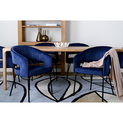 Кресло Berg Ariadna, велюр, синее UCH-ARG062712