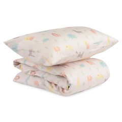 Комплект постельного белья из сатина с принтом Animalia world из коллекции Tiny world, 100х120 см Tkano TK20-KIDS-DC0004