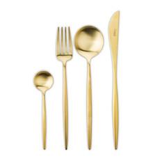 Набор столовых приборов (24 предмета / 6 персон) Cutipol MOON Gold Brushed арт. MO.006 GB