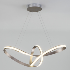 Подвесной светодиодный светильник Eurosvet Kink 90174/1 сатин-никель
