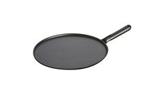 Сковорода для блинов Staub черная, с чугунной ручкой, 30 см ,с приспособлением для размазывания и лопаткой 1213023
