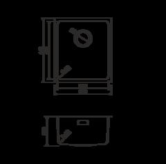 Кухонная мойка из нержавеющей стали OMOIKIRI Notoro 39-АB (4993078)