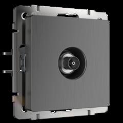 ТВ-розетка оконечная (графит рифленый) WL04-TV Werkel