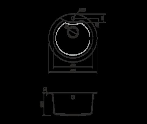 Кухонная мойка из искусственного гранита (Tetogranit) OMOIKIRI Yasugata 48R-PL (4993212)
